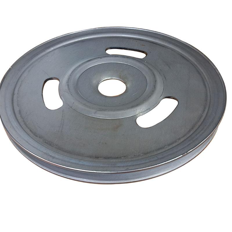 新款熟铁旋压单槽劈开式皮带轮可定做异形轮示例图3