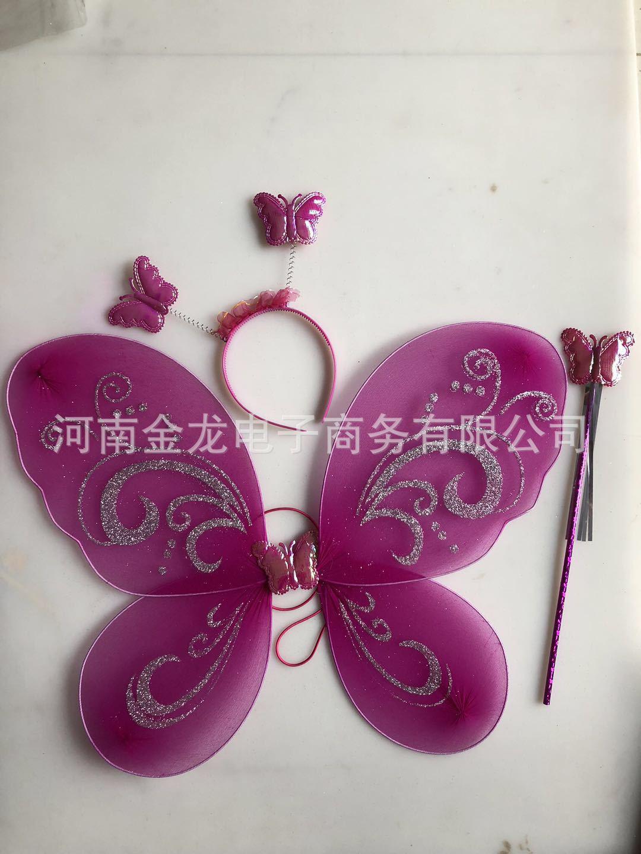 厂家七彩蝴蝶翅膀三件套儿童舞蹈表演示例图7