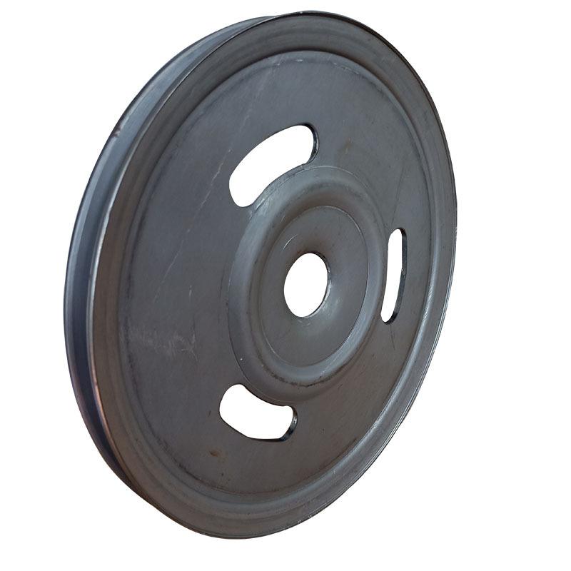 厂家直销新款熟铁旋压单槽劈开式皮带轮可定做示例图1