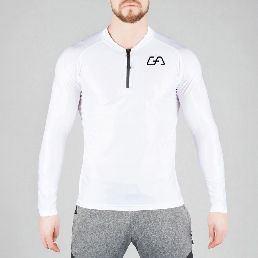 蒂贝鲨肌肉兄弟健身速干高弹长袖紧身上衣运动透气紧身长袖T恤示例图2