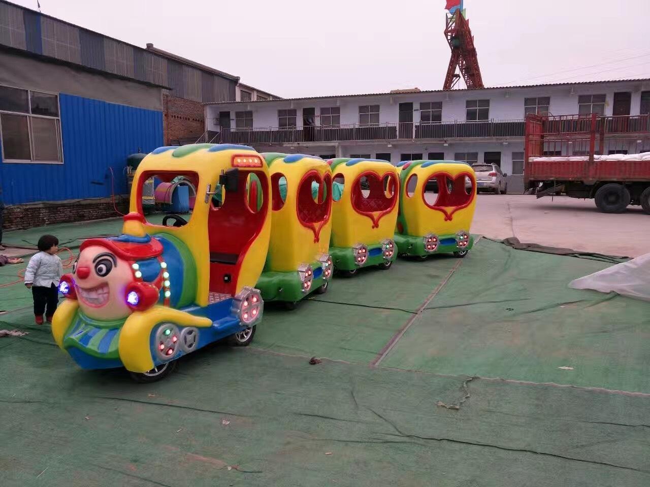 2020仿古观光火车儿童游乐设备 郑州无轨观光火车大洋生产厂家直销游艺设施示例图11