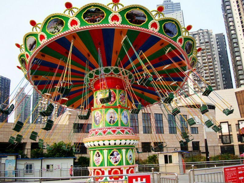 新品上市大型游乐设备飓风飞椅 郑州大洋升降摇头24座豪华飞椅示例图11