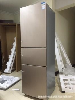美的冰箱配件附件_【美的冰箱三门 节能 BCD-213TME家用三开门式电冰箱阳光米 金色 ...