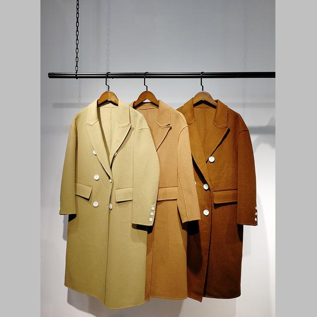 批发供应N28双面尼大衣1803017788女装折扣店直 播货源厂家直供