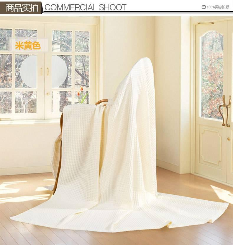 艺特佳家纺冰淇淋纹双人单人加厚全棉毛巾毯空调毯夏被毛毯特价示例图4