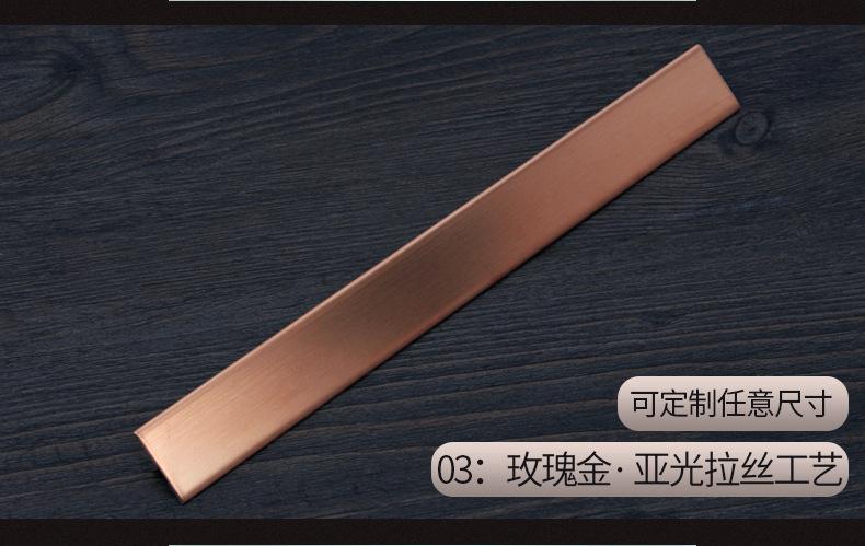 6毫米不锈钢实心条 镜面钛金装饰T条瓷砖收口填缝玫瑰金条批发示例图6