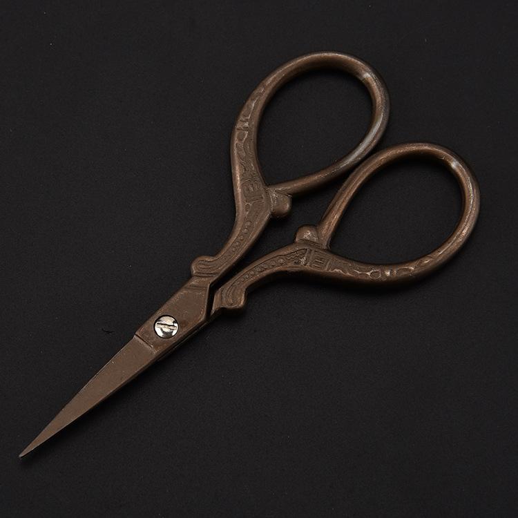 厂家直销家用铁塔剪 复古镀金铁塔布艺剪 复古剪刀美容剪示例图12