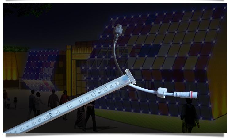全彩线条灯七彩内控线条灯 家直销led线条灯示例图6