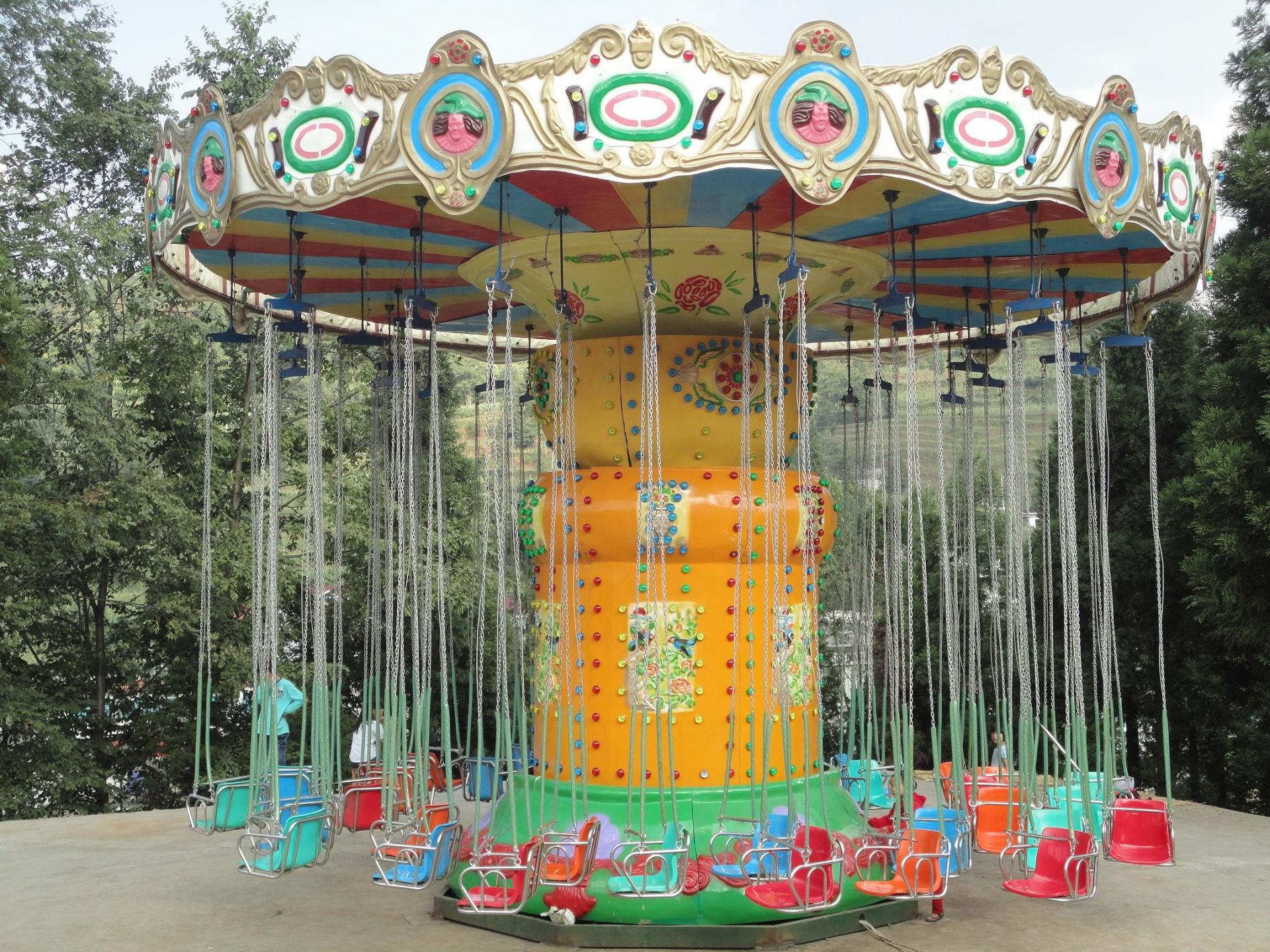 厂家直销现货供应24座豪华飞椅项目 公园经典游乐飓风飞椅报价示例图4
