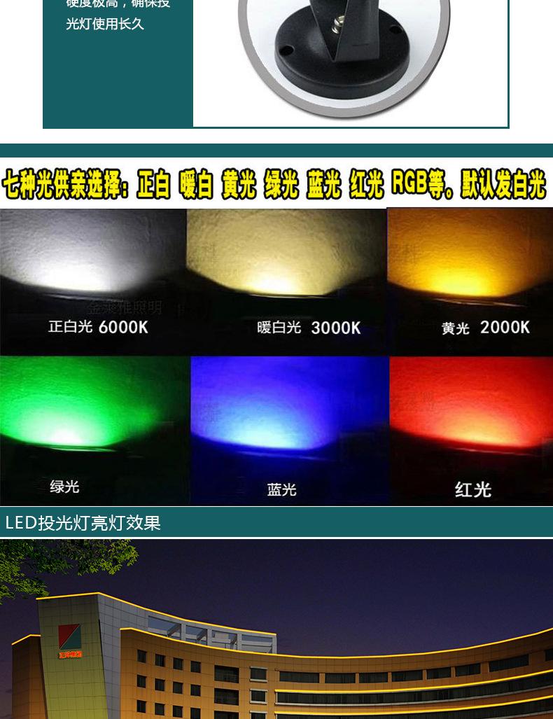 新款直销 户外照明 LED地插灯 防水LED草坪灯 园林庭院照明地射灯示例图5