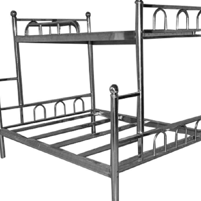 不锈钢双层子母床 部队学校上下床 不锈钢现代中式优质双人床
