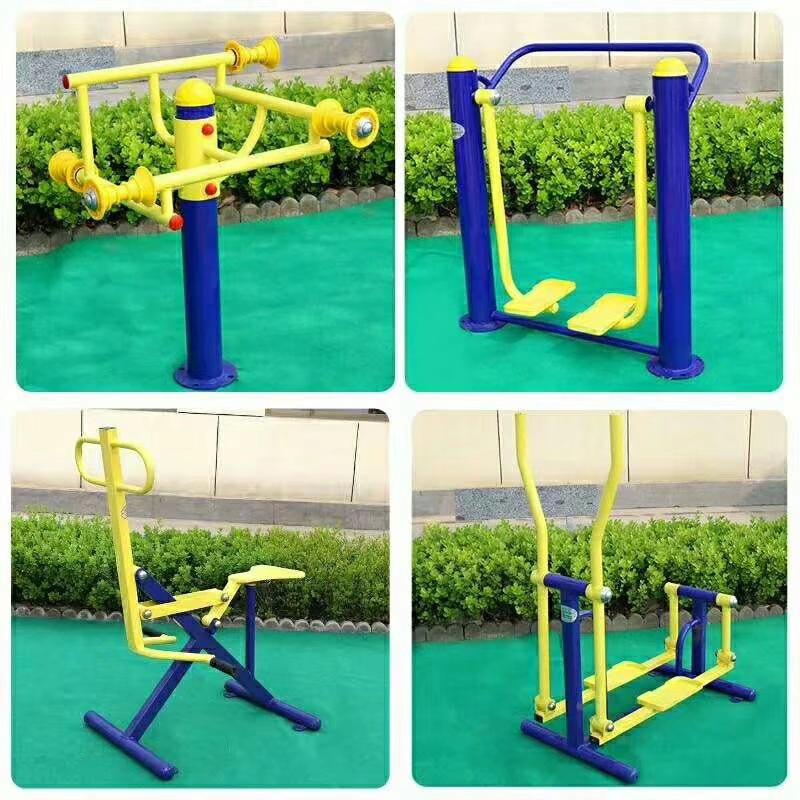 专业供应公园广场小区室外健身路径 高质量双人坐蹬 户外健身器材示例图12