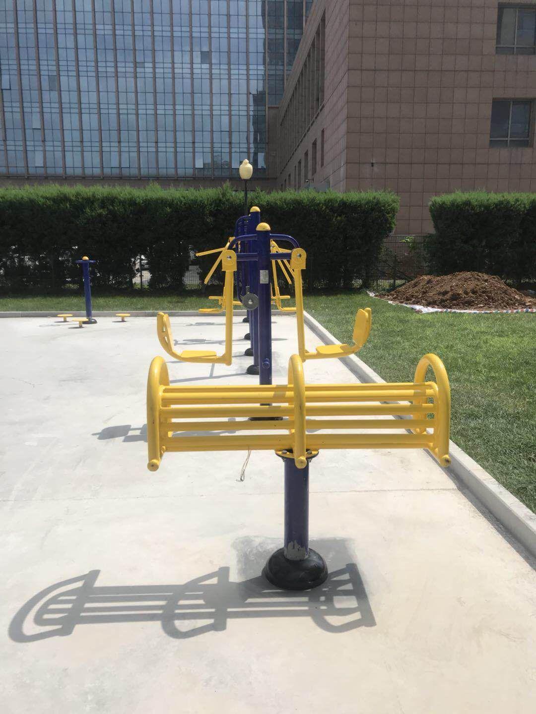 专业供应公园广场小区室外健身路径 高质量双人坐蹬 户外健身器材示例图14