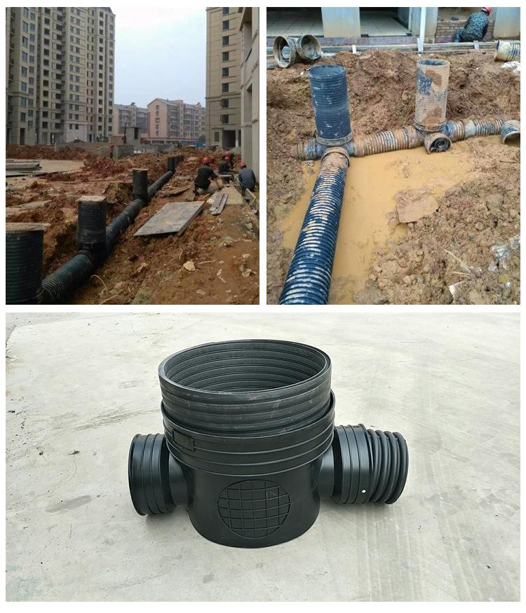 450*300沉泥90°弯头井 塑料检查井 雨水塑料检查井批发示例图14