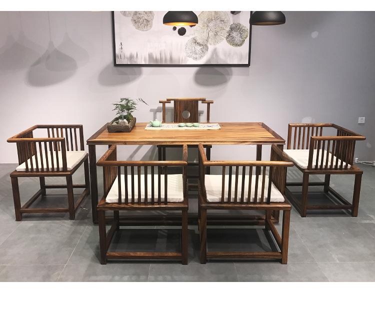 现代简约竞技宝和雷竞技哪个好茶桌椅组合新中式茶桌 胡桃木功夫茶几茶台免漆雷竞技靠谱吗示例图18