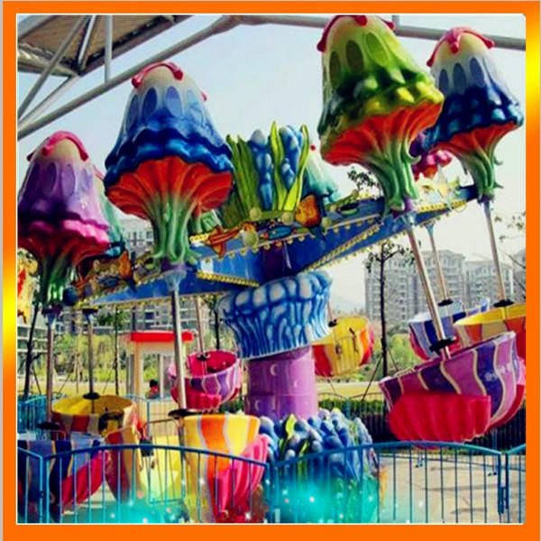 郑州大洋专业生产逍遥水母游乐设备 公园精品游乐8臂旋转逍遥水母示例图2