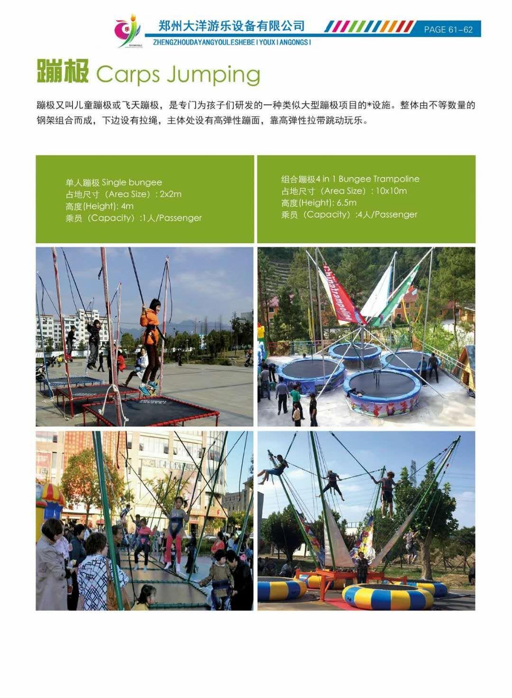 新款广场小型游乐设备小蹦极 郑州大洋专业生产4人蹦极游乐设备示例图42