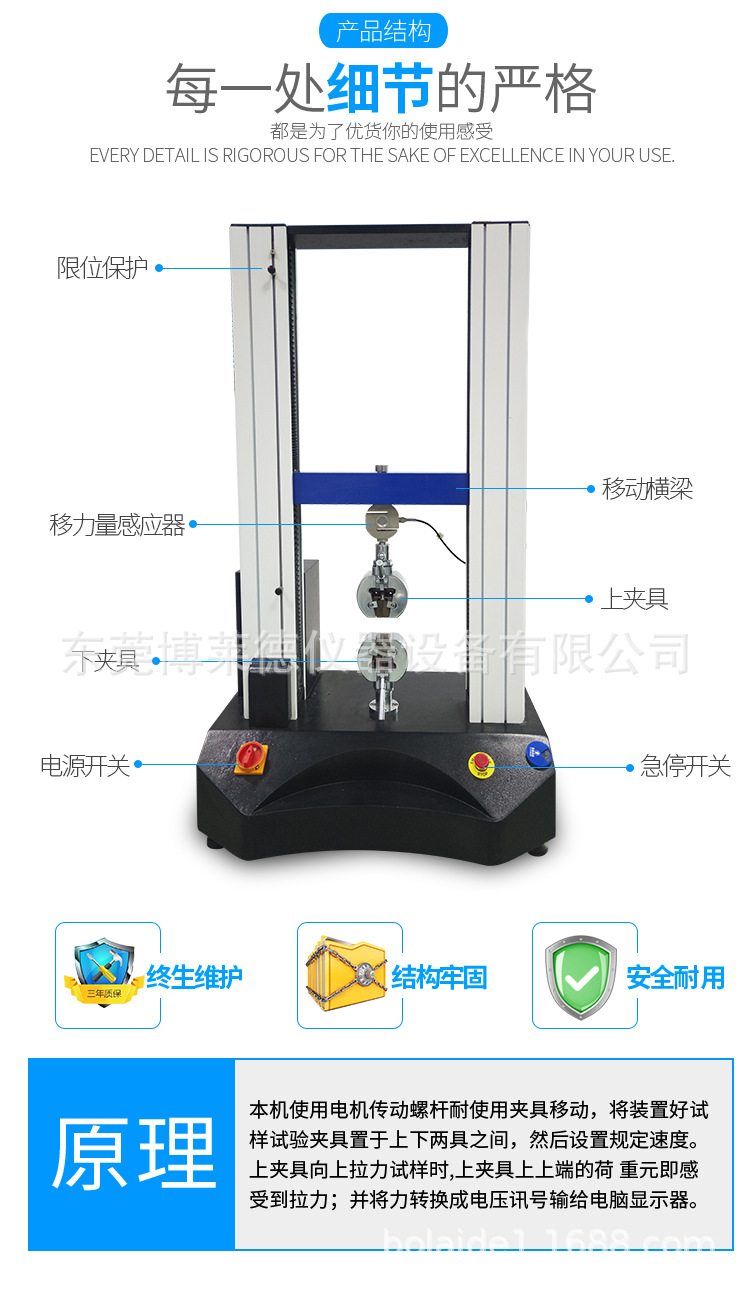 博萊德 BLD-602 電腦控制式海綿壓陷硬度試驗儀 軟質泡沫壓陷硬度測試儀示例圖3