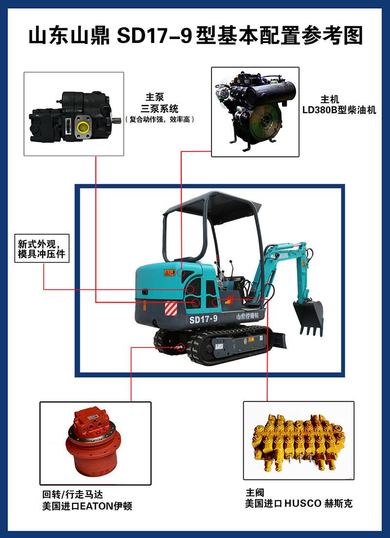 厂家出售17型挖掘机挖鱼塘的履带小挖机农用小勾机示例图11