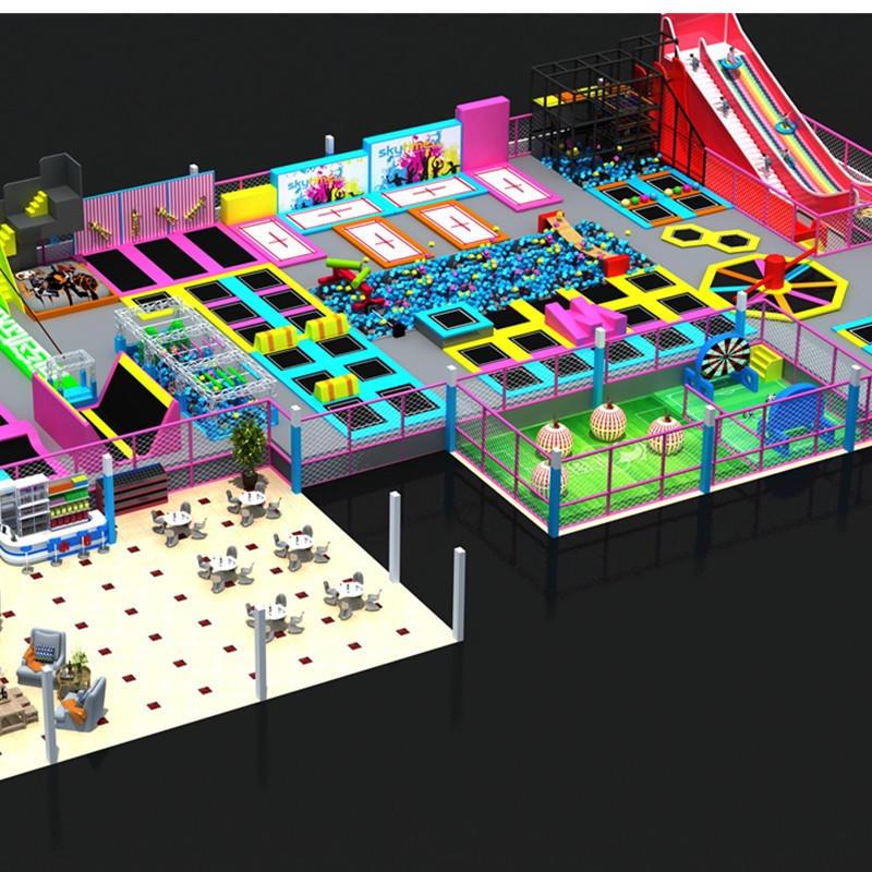 大型蹦床淘气堡儿童乐园室内游乐场亲子乐园游乐设备网红抖音蹦床贝多罗厂家