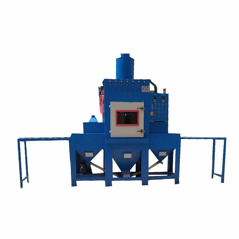 源頭廠家供應環保型自動噴砂機非標定制滾軸400平面輸送式自動噴砂機平板平面表面噴砂加工