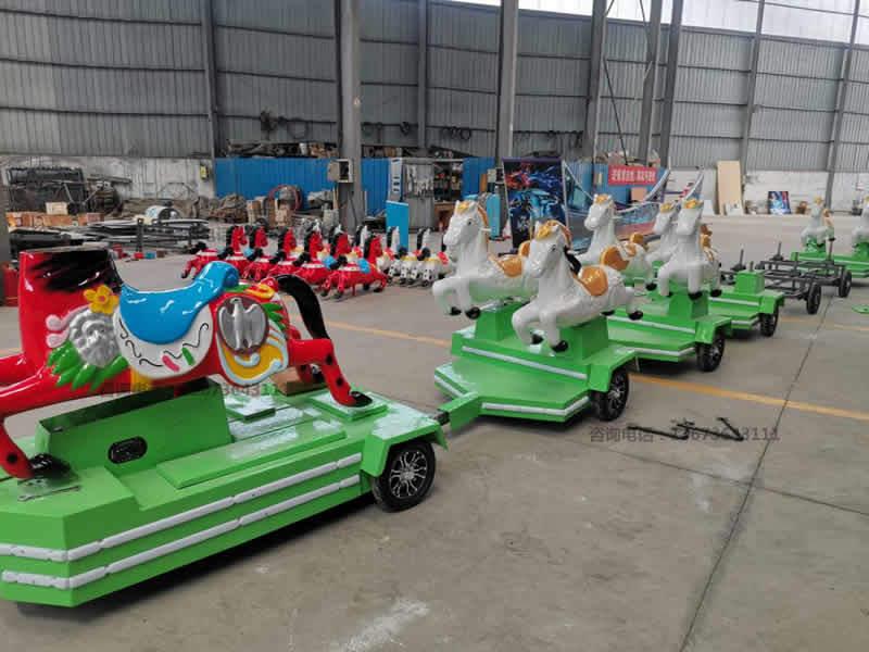 安徽跑马火车,骑士小队,骑马无轨小火车,起伏马火车骑仕火车新款儿童游乐设备到直销骑士小队小火车生产厂家示例图12