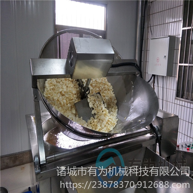 江蘇炸蝦片油炸機 蝦餅油炸鍋定制 有為牌XB-1000型膨化蝦片油炸機