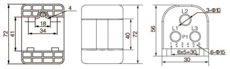 安科瑞,测量型电流互感器,AKH-0.66-30I,额定电流比100-600/示例图21