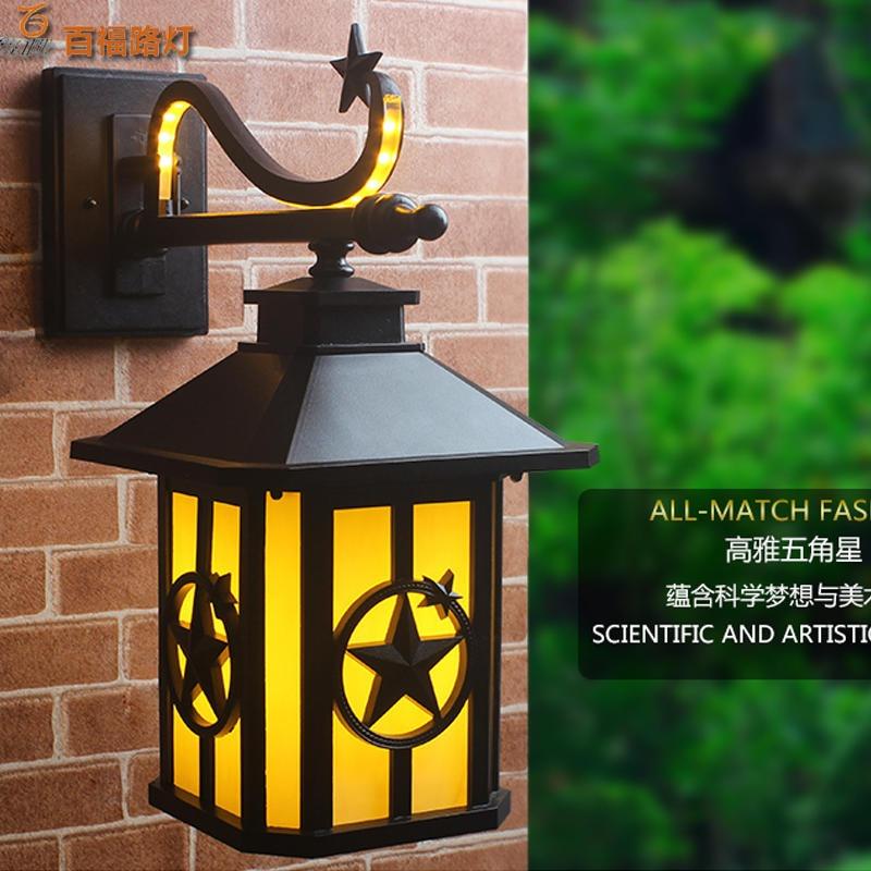 广州LED户外壁灯 百福定制欧式户外壁灯 现代简约防水户外壁灯