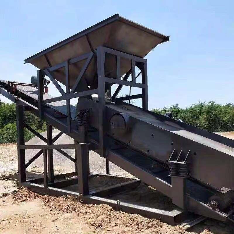 中言機械 電動版小型篩沙機  20型滾筒篩沙機 30型50型震動篩沙機 沙廠專用篩砂機 砂石分離機