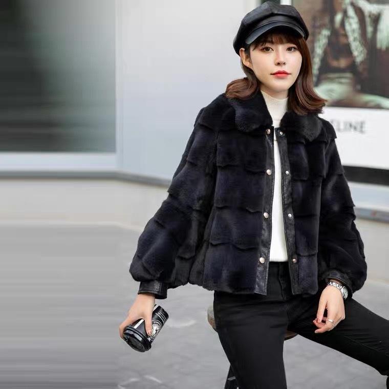 轻奢外套丹麦貂绒大衣女外套2021新款冬季中长款妈妈装一体时尚气质厚 商场货源供应示例图5
