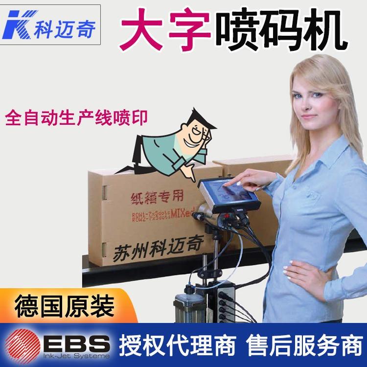 EBS230 全自动喷码机 饮料食品喷码  大字符喷码机 在线打标机 轧钢 铝板喷码