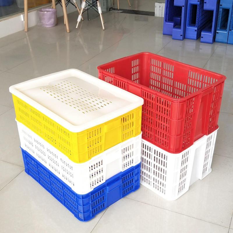 益樂仙桃直銷塑料周轉筐水果蔬菜框工廠長方形膠筐成品龍蝦苗筐