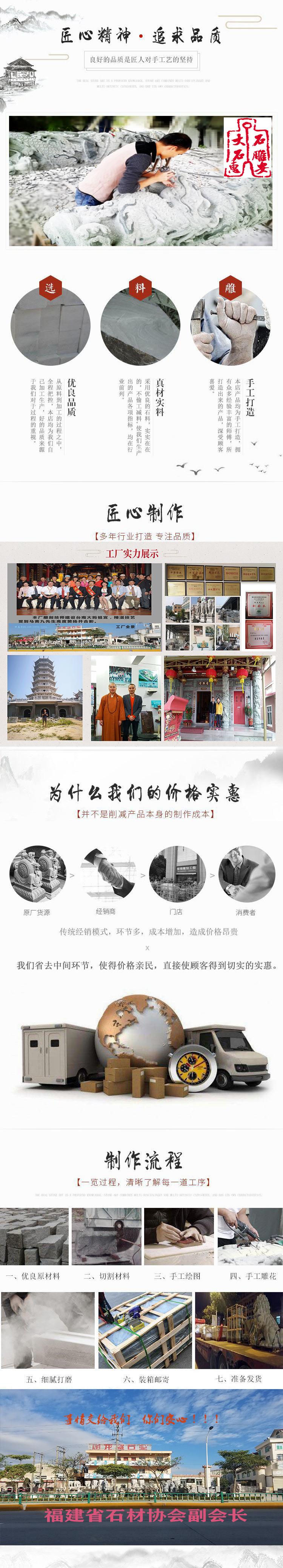 深圳石雕孔子像 孔子雕像 惠安石雕示例图6