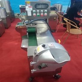 商用食堂厨房设备全自动不锈钢切菜机 双机头切菜机 可以切丁切丝切段的机器 多功能切菜机
