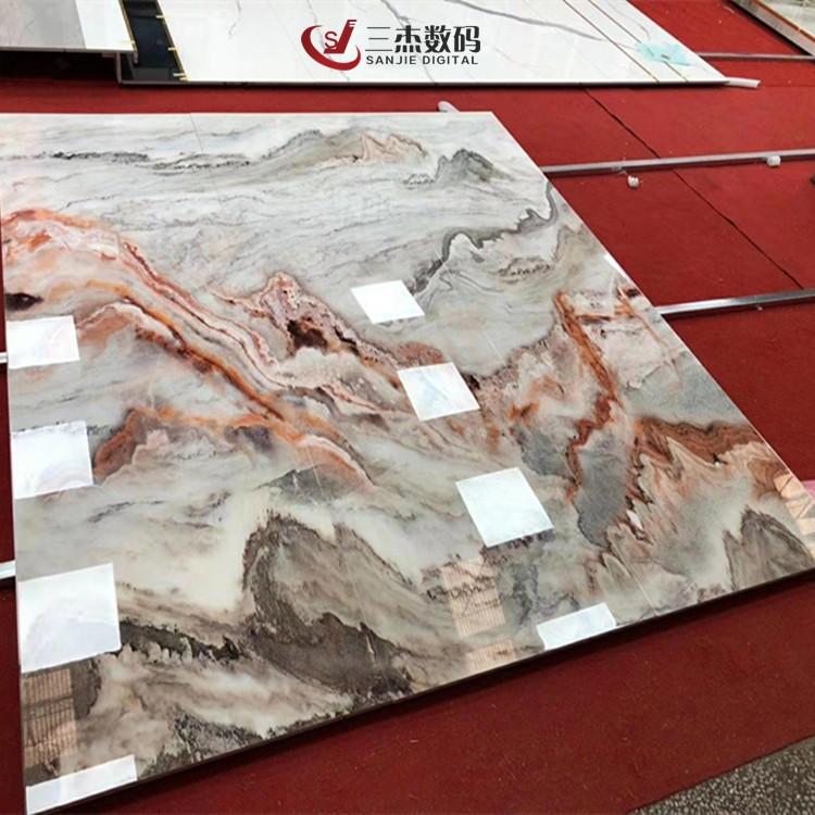 山西uv石材大板打印機 花崗石背景墻印刷機 電視墻彩印機
