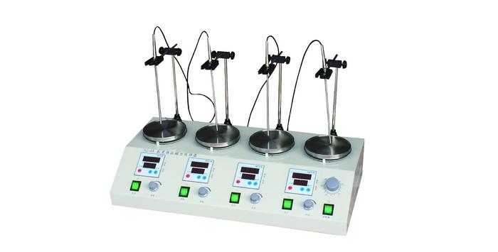磁力搅拌器 欧莱博HJ-4A数显恒温磁搅拌盘示例图1
