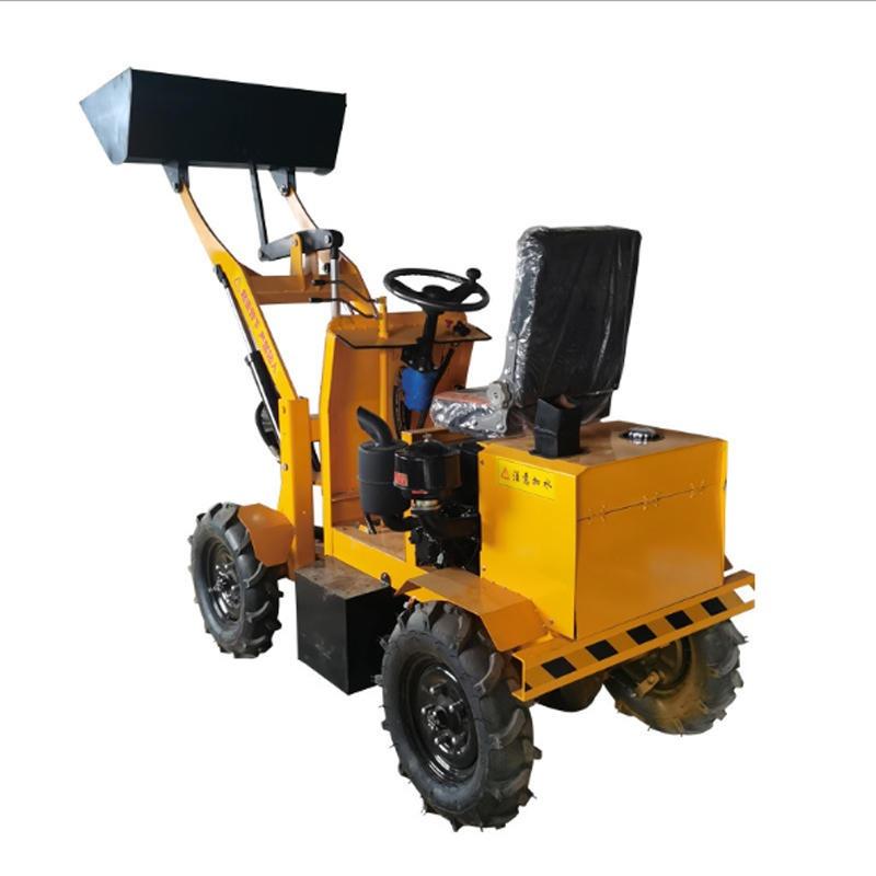 電動小鏟車 梓曼四驅液壓柴油鏟車裝載機 養殖農用小型液壓小鏟車 工程機械鏟運機廠家供應