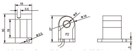 安科瑞,测量型电流互感器,AKH-0.66-30I,额定电流比100-600/示例图24