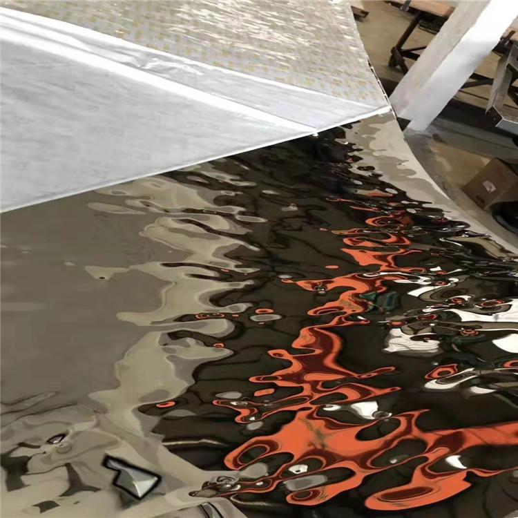 不锈钢流动水波纹板 香槟金锈钢大水波纹板 天花吊顶不锈钢装饰板 现货供应