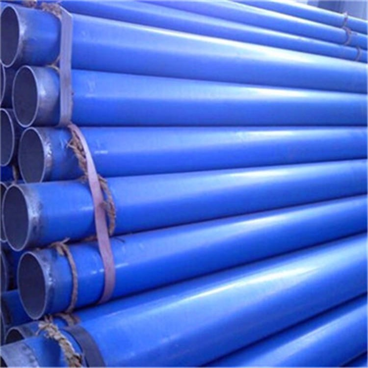 廣匯定制 CJ/T120-2008給水內外涂塑鋼管 涂塑復合鋼管 內外涂塑復合鋼管廠家