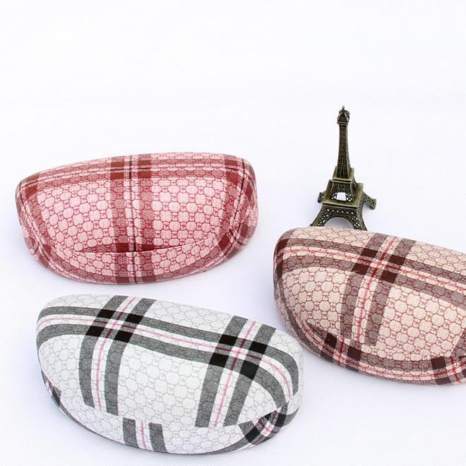 5892  千艾新款 時尚條紋格子 太陽鏡盒 眼鏡盒 墨鏡盒