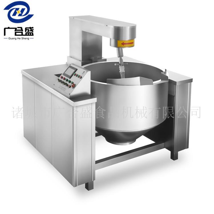 热门炊事设备 中 央厨房炒菜机 广合盛电磁行星搅拌炒锅