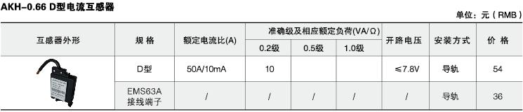 安科瑞,测量型电流互感器,AKH-0.66-60I,额定电流比1000-2500/示例图41