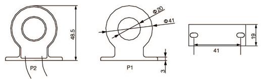 安科瑞,测量型电流互感器,AKH-0.66-30I,额定电流比100-600/示例图27
