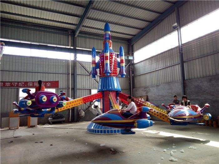 新款精品推荐郑州大洋8臂自控飞机儿童游乐设备 旋转自控飞机示例图7