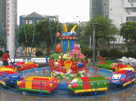 新型欢乐岛儿童游乐设备 郑州大洋专业生产公园欢乐岛厂家示例图5