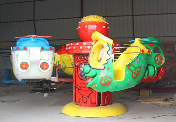 4臂笑脸升降飞机儿童游乐设备 大洋儿童游乐园新款大眼飞机项目示例图3