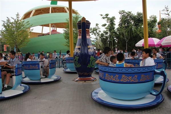 郑州大洋转转杯生产厂家 造型好看小朋友喜欢转转杯公园新型游乐示例图8
