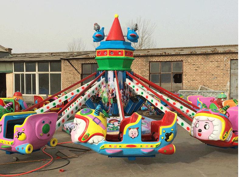 新型新款儿童游乐设施4臂旋转机械熊出没 2019大洋卡通机械熊出没示例图2